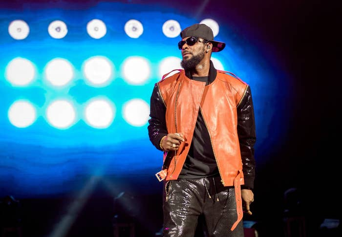 R. Kelly performing at Barclays Center on Sept. 25, 2015, in Brooklyn.