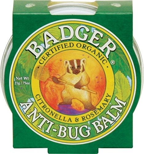 the tin of balm with a badger cartoon on the packaging