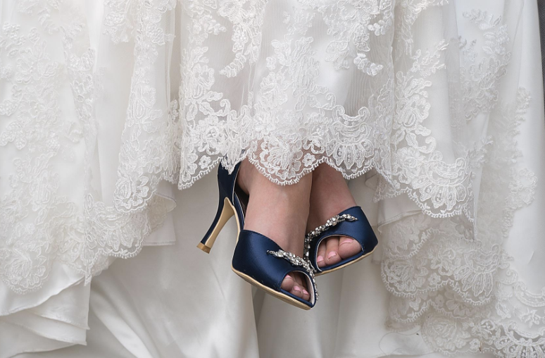 451506ac4de80 Satin peep-toe pumps you'll love so much you'll plan a vow renewal just to  wear 'em again.