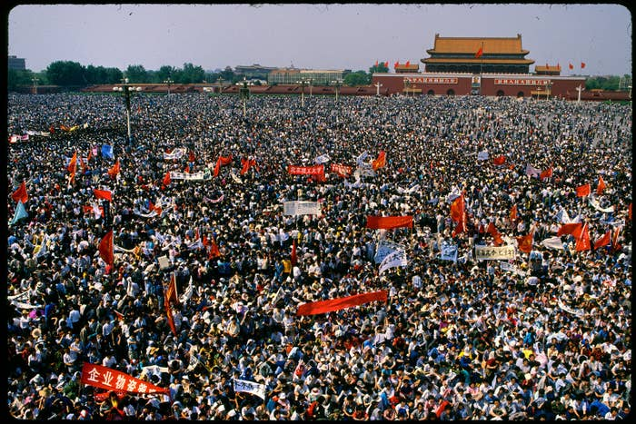 tiananmen workers protest ile ilgili görsel sonucu