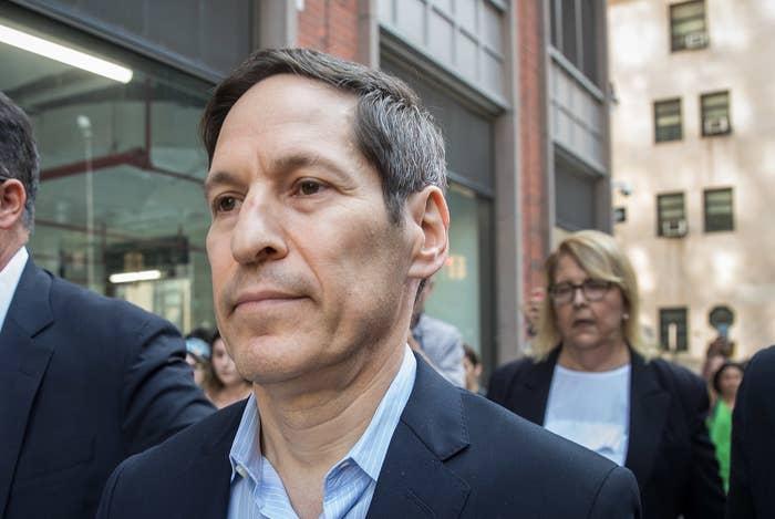 Tom Frieden exits Brooklyn Criminal Court in 2018.