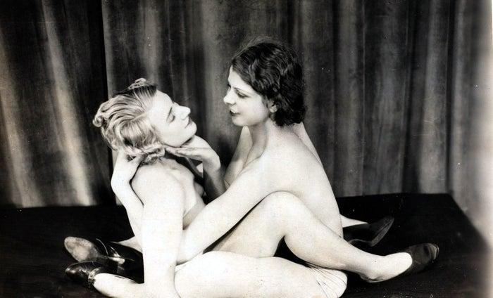 Erotic postcard, circa 1920.