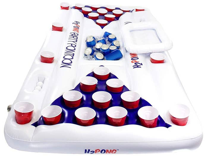 """Promising review: """"Bought this for my son's dirty 30 birthday party and it was a Hit! Even after everyone was done with the pool, we just put it on top of our table. Very good quality!"""" —Pamela CampbellPrice: $48.99 (comes with five ping pong balls)"""