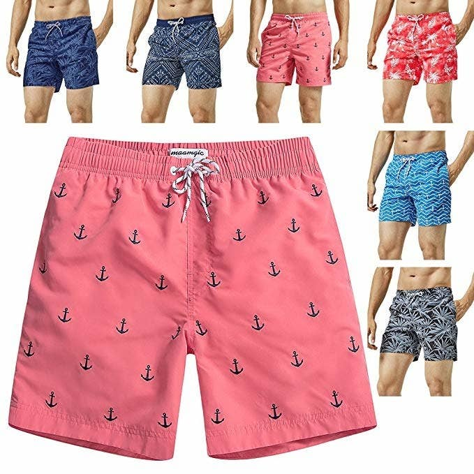 85d8484cb2 And a fun pair of mesh-lined swim trunks that can even be worn with a linen  button down to be ready for any beach party.