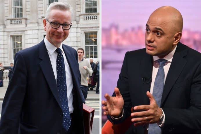 Tory leadership candidates Michael Gove and Sajid Javid