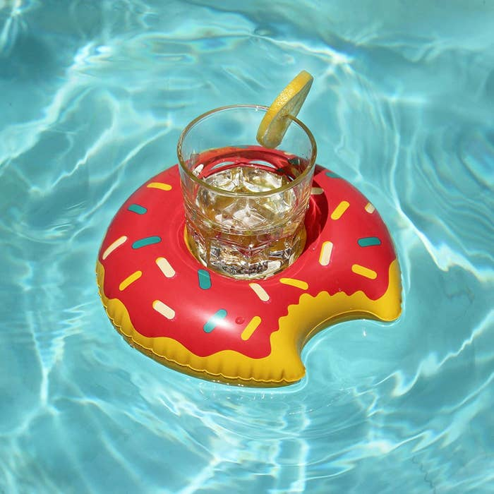 "Promising review: ""These guys were awesome! They were larger than I imagined and did great holding up drinks in the pool. The were very cute, I received lots of compliments from our guests. The small air pump worked great!"" —Mitch LeonardGet them from Amazon for $10.99 (12-pack of different shapes)."