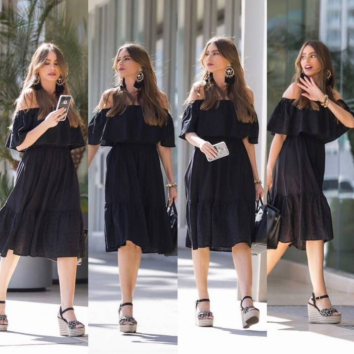 """Promising review: """"I got this dress in black and white. It's a great material, flowy, and looks more expensive than what I paid for it, which I LOVE."""" —CoffeeGalPrice: $36.50 (available in sizes XS–XXXL)"""