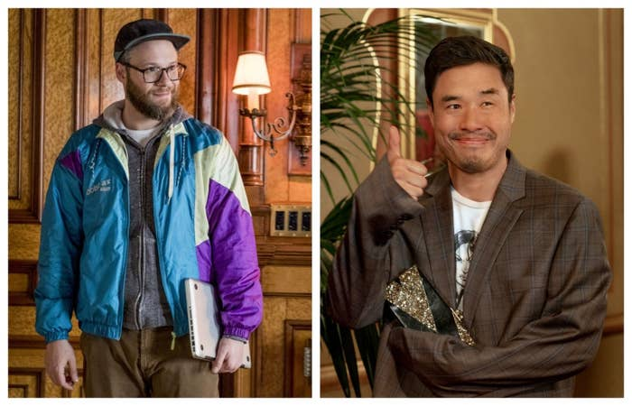 Seth Rogen in Long Shot and Randall Park in Always Be My Maybe