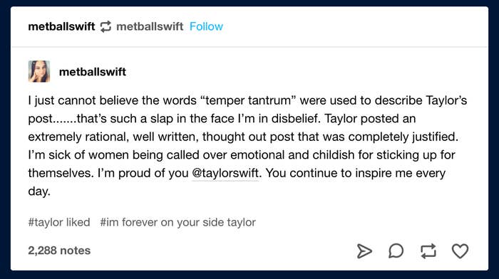 Taylor Swift Has Liked A Series Of Revealing Tumblr Posts