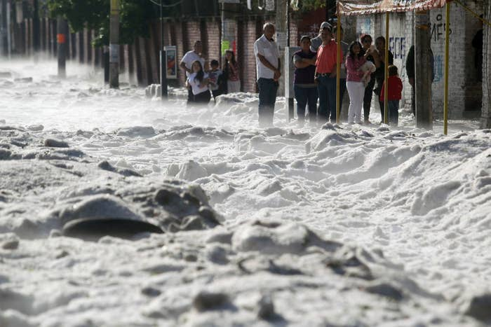 It Snowed Unexpectedly In Mexico, Blanketing Residents Under 3 Feet Of Snow