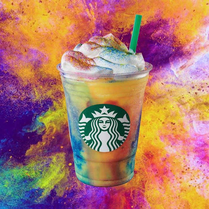 Starbucks S New Tie Dye Frappuccino Tastes Like Straight Up