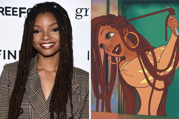 Here's A Bunch Of Fan Art By Artists Who Can't Wait To See Halle Bailey As Ariel In