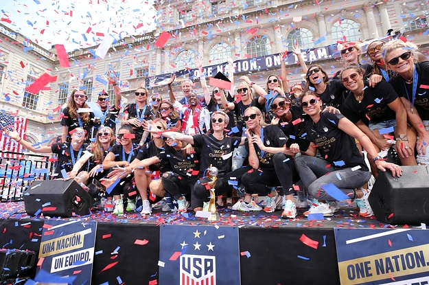 The US Women's Soccer Team Used Their Parade As A Platform To Fight For Equal Pay