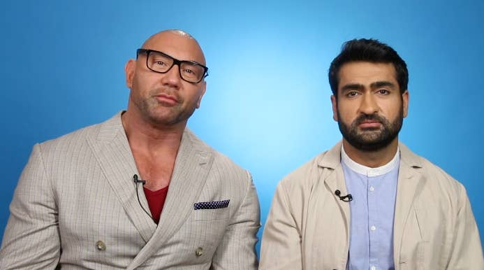 """""""Stuber"""" Stars Dave Bautista And Kumail Nanjiani Read Your Thirst Tweets, And It's Stuper Funny"""