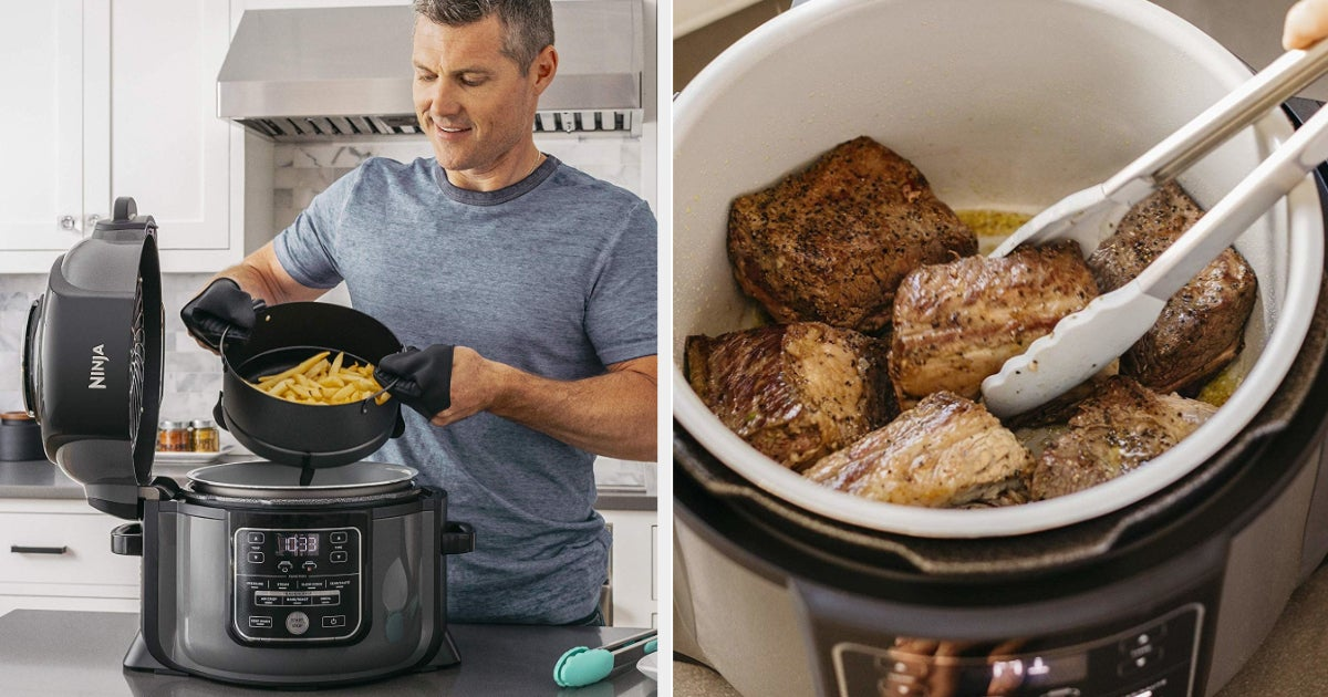 Clear Your Kitchen Counter, Because The Ninja Foodi Pressure Cooker Is $100 Off For Prime Day