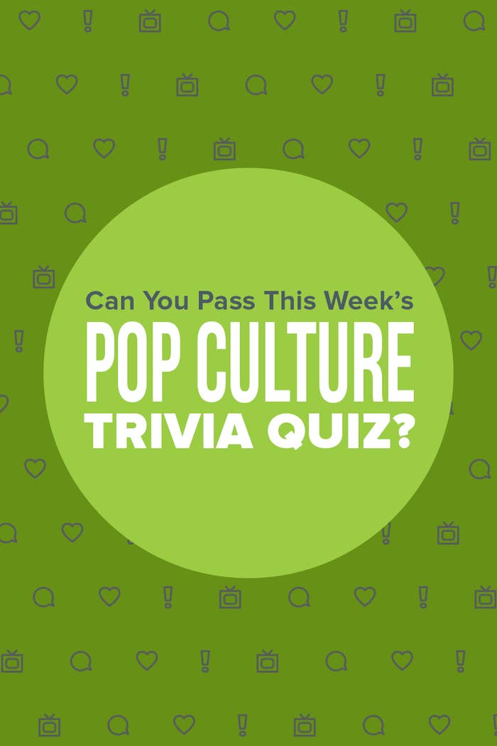 How Well Can You Do On This Week's Pop Culture Trivia Quiz?