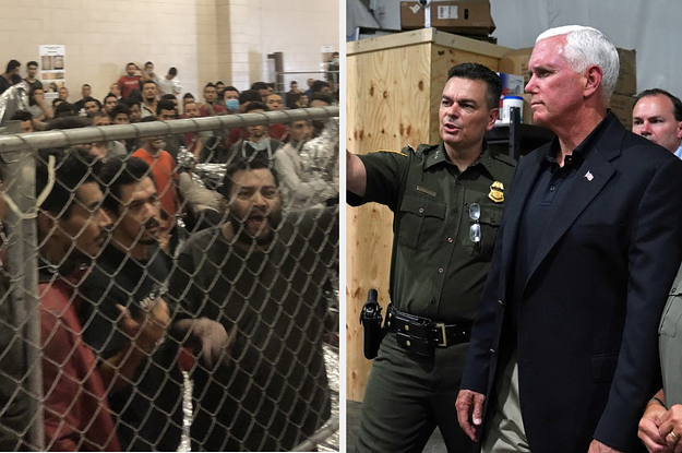 """""""The Stench Was Horrendous"""": Pence Visited A Border Patrol Station Packed With Hundreds Of Immigrants In Cages"""