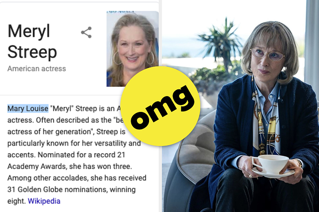 Meryl Streep's Real Name Is Actually ...