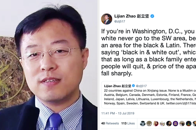 A Chinese Diplomat Got Called Racist For Tweeting About DC While Defending Muslim Internment Camps