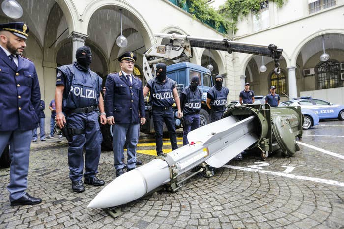 Italian Police Seized An Air-To-Air Missile During An Investigation Into Far-Right Groups