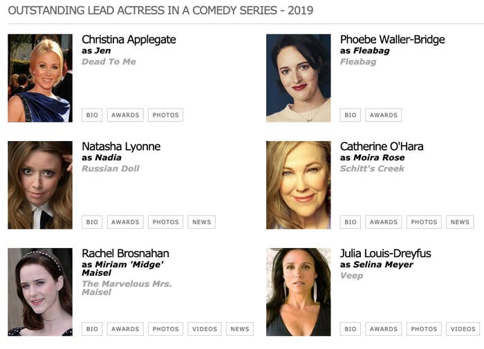 This Year's Emmy Category For Best Comedy Actress Is Going To Start A Gay Civil War