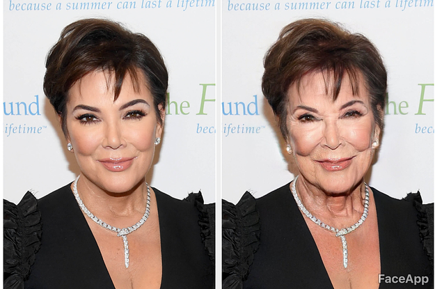 Here's What The Kardashians Look Like With FaceApp's Old Person Filter