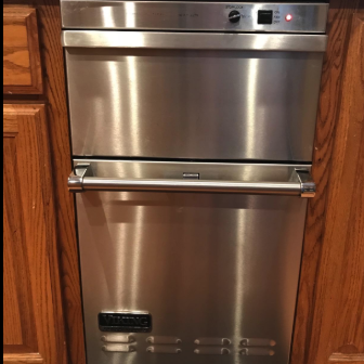 the same oven looking shiny and new