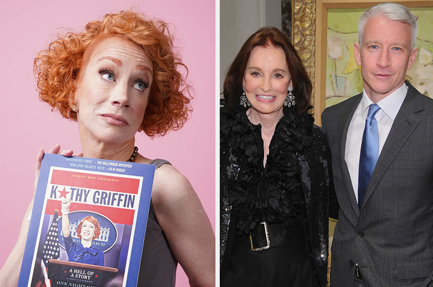 Kathy Griffin Said She Hasn't Reached Out To Anderson Cooper Since His Mom, Gloria Vanderbilt, Died