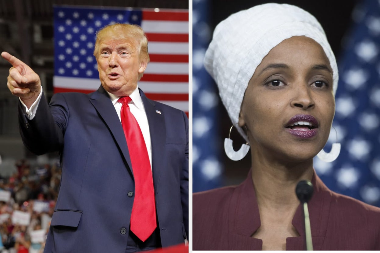 """Trump Supporters Echoed His Attack On Congresswomen, Chanting """"Send Her Back!"""""""