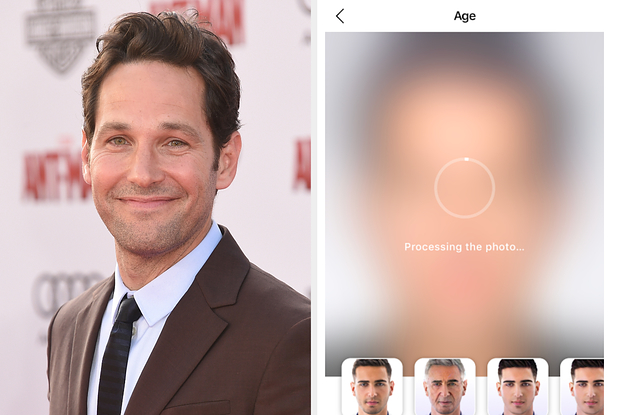Paul Rudd Aged With FaceApp