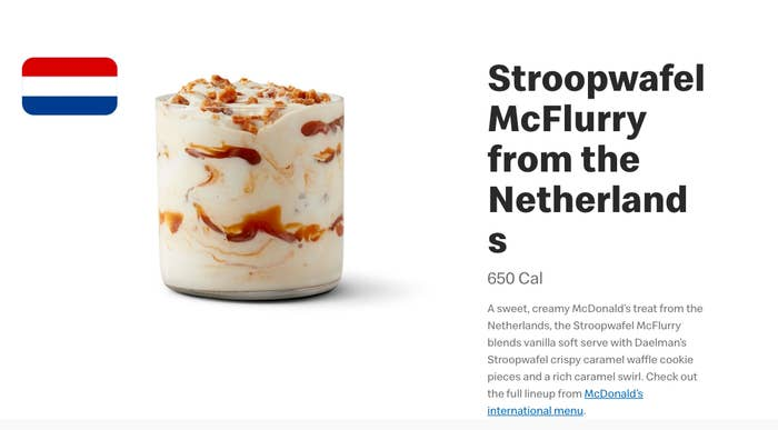People Are Loving McDonald's New Stroopwafel McFlurry And
