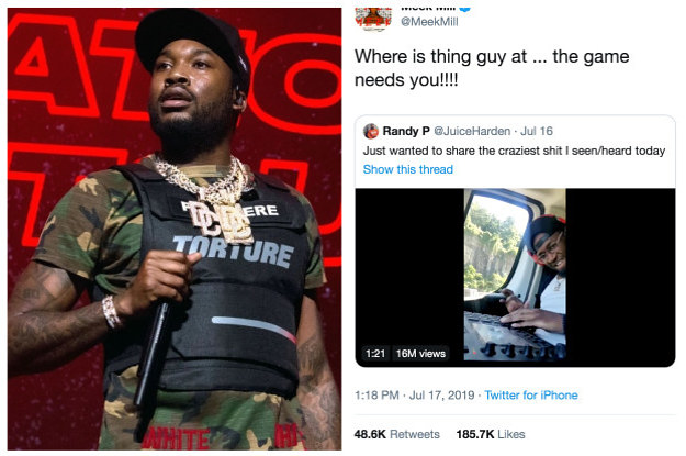 A Man Who Caught Rapper Meek Mill's Attention On Twitter Is Proof That Hard Work And Big Dreams Pay Off