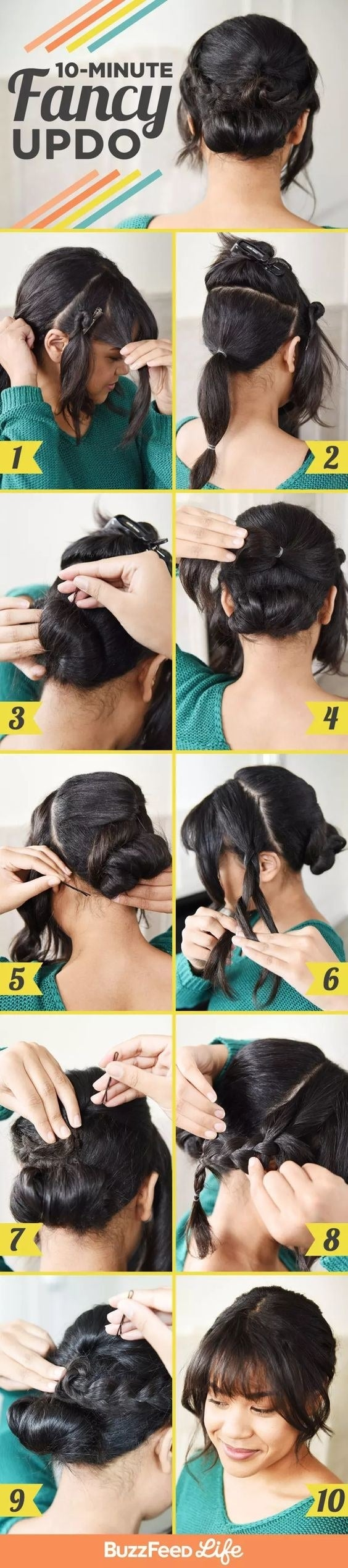 The tutorial for a 10-minute fancy-looking updo