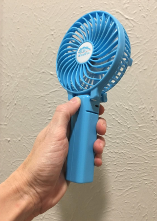 6454a648fde76 A rechargeable handheld fan with three adjustable speed levels, fantastic  for helping you cool down on super hot summer days.