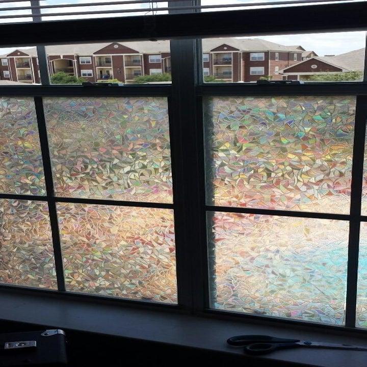 window with prismatic film