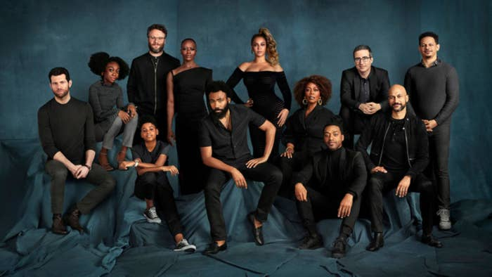 "John Oliver Confirmed That Beyoncé Was Photoshopped Into ""The Lion King"" Cast Photo, And It's Hilarious"