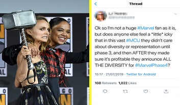 Marvel Just Announced A Ton Of Upcoming Movies And It's Sparked A Debate About Diversity In The MCU