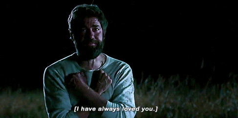 "Jonh Krasinski's character using ASL at the end of ""A Quiet Place"""