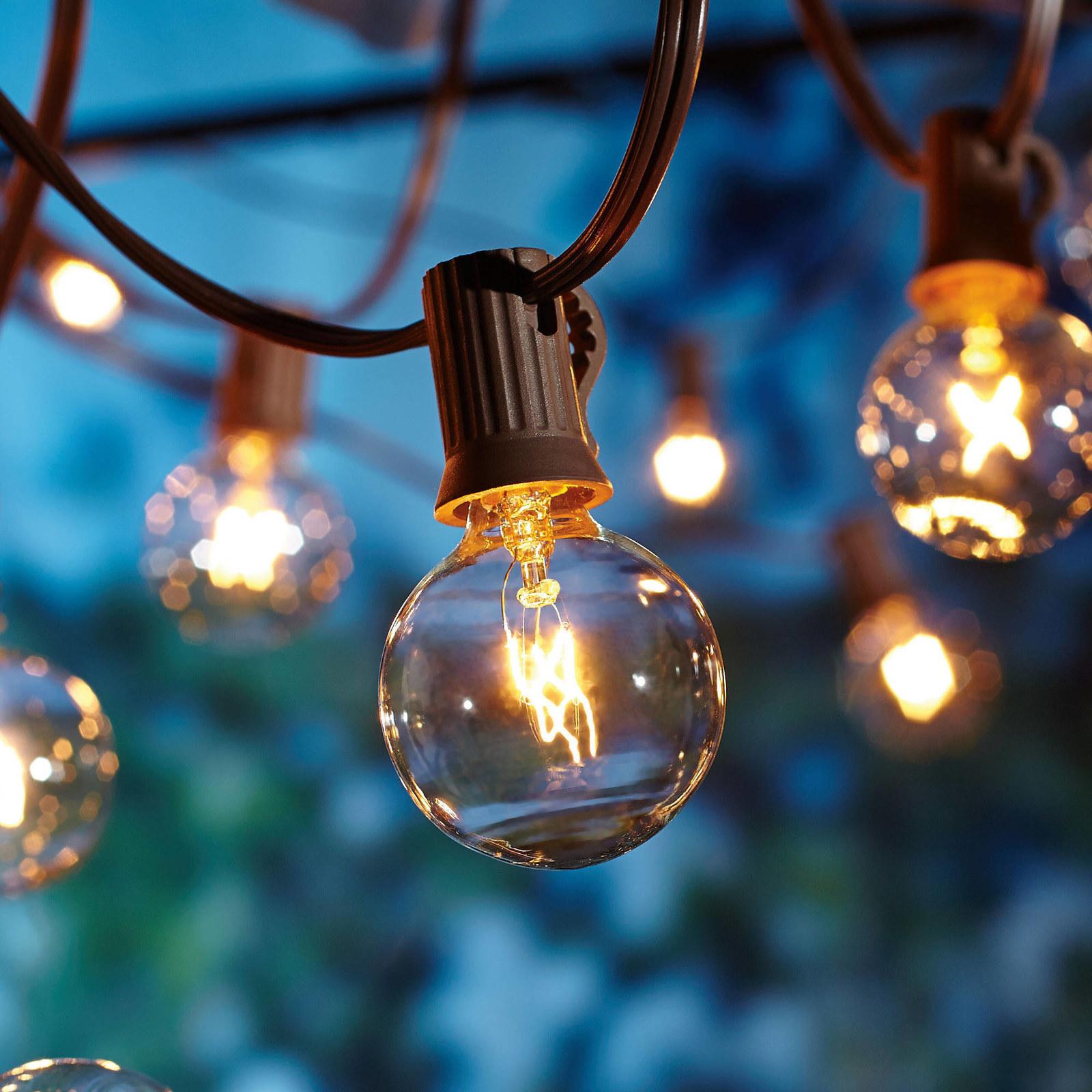 large glass bulb sting lights