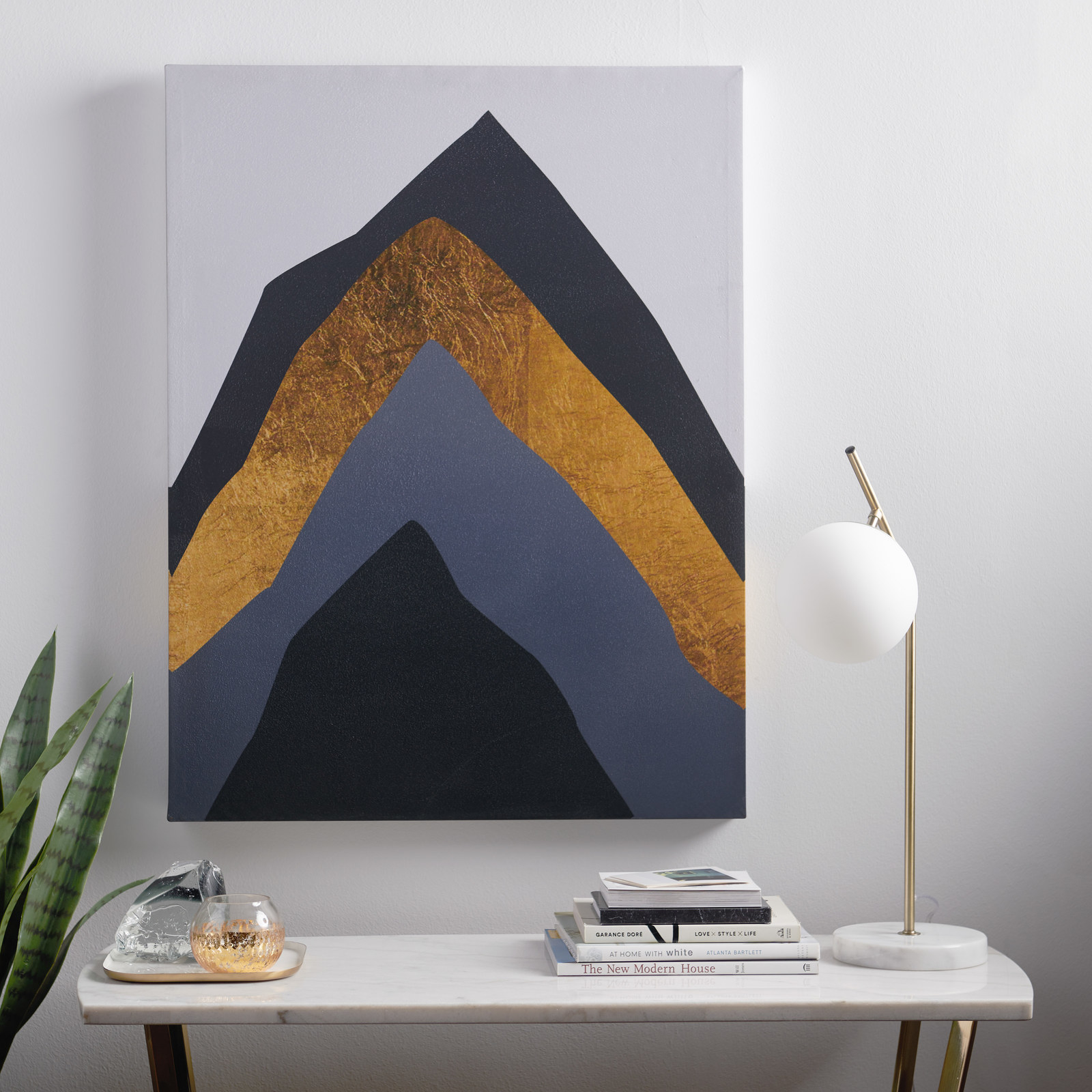 art with colorblock mountain design