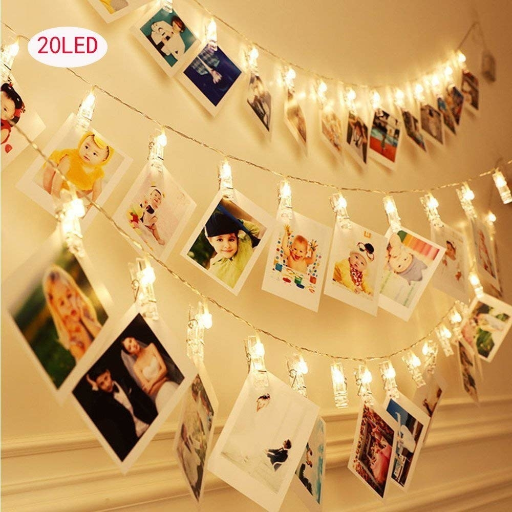 sting lights with photo clips