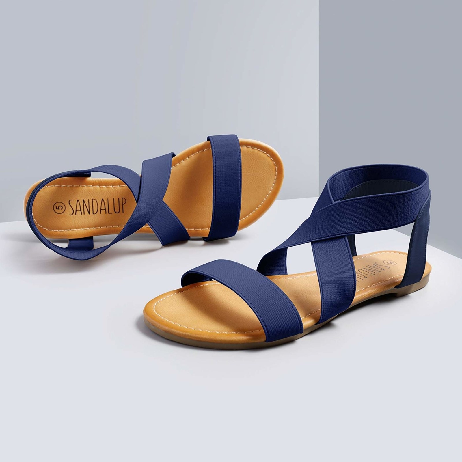sandals in new navy blue