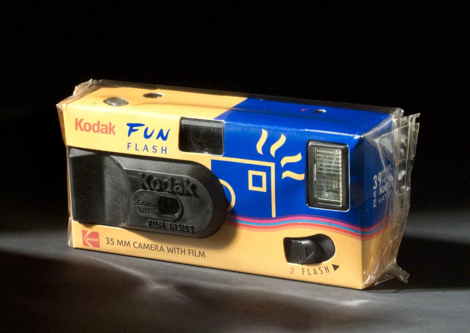 A photo of a Kodak disposable camera.