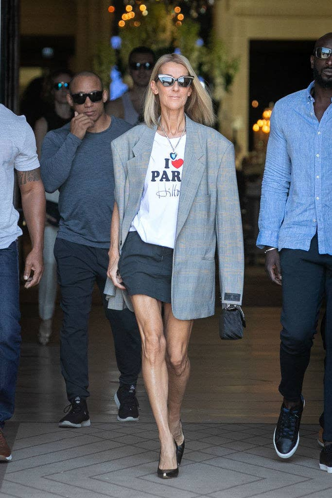 France, R U OK? Cuz Celine Dion's Been Slaying These Parisian Streets During Fashion Week