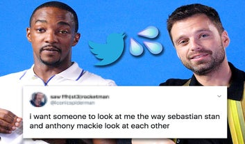 Sebastian Stan And Anthony Mackie Read Your Thirst Tweets And I'm Blushing For Them