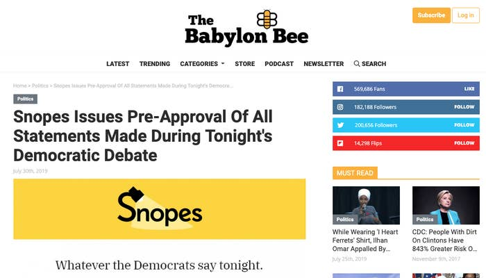 A Christian Satire Site Says Snopes Is Helping Facebook De