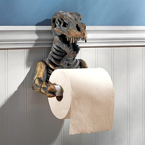 The T-Rex toilet paper roll holder