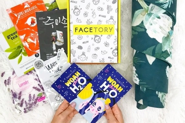 box with different face masks