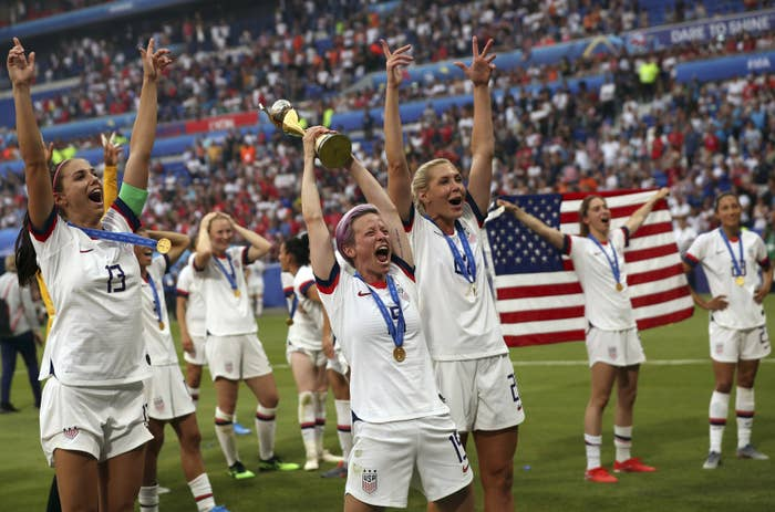 """The World Cup Crowd Started Chanting """"Equal Pay"""" Right After"""