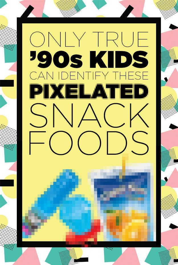 Only '90s Kids Can Identify More Than 12 Of These Pixelated Snack Foods